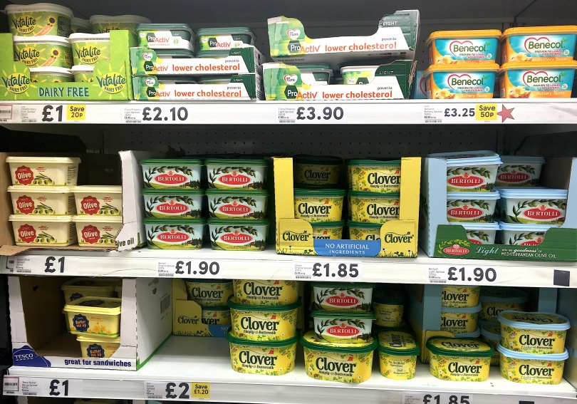 Cholesterol friendly margarines